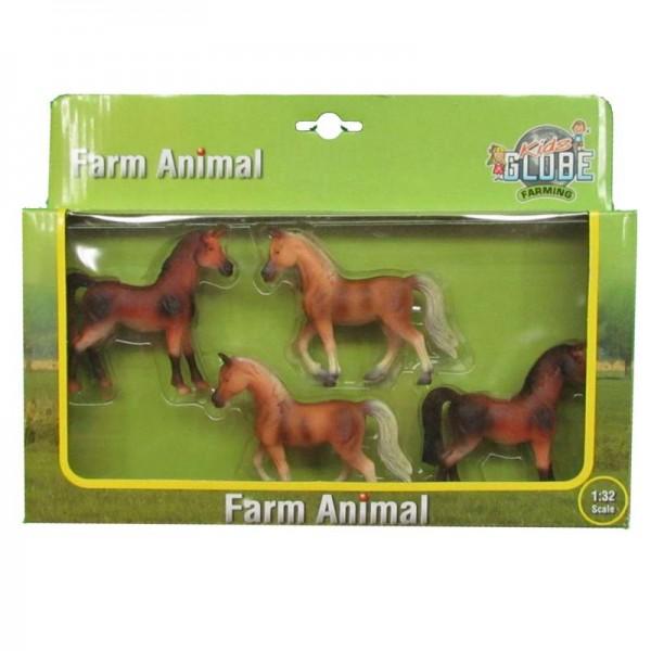 Pferde 4 Stück in Box